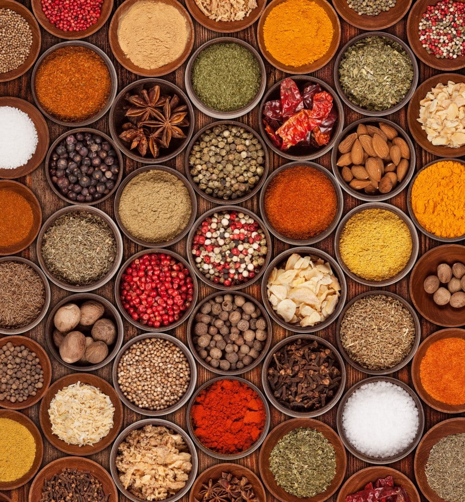 Seasonings from all over the world